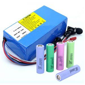 ແບດເຕີລີ່ Lithium 18650 48V 12AH 48V 500W ລົດໄຟຟ້າລົດຖີບໄຟຟ້າດ້ວຍ BMS
