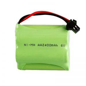 NiMH ແບດເຕີລີ່ Rechargeable AA2400 6V