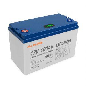 All INNE ຂາຍພະລັງງານໄຟຟ້າພະລັງງານແສງຕາເວັນ Lithium ແບດເຕີລີ່ທີ່ເກັບຮັກສາຊອບແວ BMS ຄວບຄຸມສາມາດສາກໄຟຮອບວຽນ 12V 100Ah LiFePO4 ໝໍ້ ໄຟ
