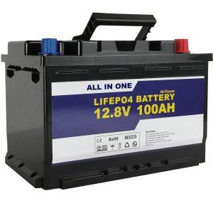 ແບດເຕີລີ່ GEL / AGM ທົດແທນຫມໍ້ໄຟພະລັງງານແສງຕາເວັນ 12v 100ah LifePo4 Lithium ion Battery