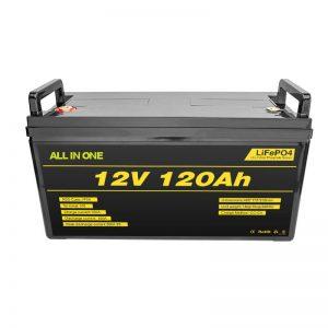 ແບດເຕີລີ່ Lifepo4 BMS Lithium 12v 120ah Lifepo4 Lithium Ion Battery 12v