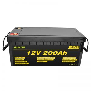ລົດໄຟຟ້າທີ່ສາມາດປັບແຕ່ງໄດ້ 12V Lifepo4 ແບັດເຕີຣີຂະ ໜາດ 12.8v 200ah ພ້ອມແບດເຕີຣີຊີວິດປະ ຈຳ ປີ 2000