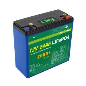 ວົງຈອນໄຟຟ້າພະລັງງານແສງອາທິດ 24v 48v 24ah Lifepo4 ບັນຈຸ ໝໍ້ ໄຟ UPS 12v 24ah