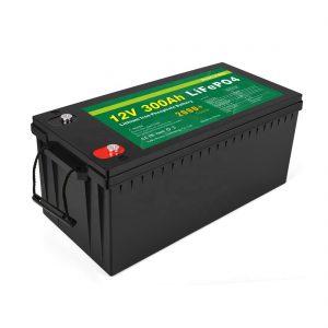ແບັດເຕີຣີທັງ ໝົດ ພາຍໃນ ໜຶ່ງ ດຽວມີ Lithium Ion Battery Deep Cycle 12v 300Ah LiFePo4 Battery