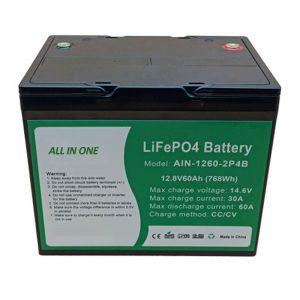ALL IN ONE Cylindrical 2000 ຮອບວຽນແບດເຕີລີ່ lithium 12v60Ah ສຳ ລັບພະລັງງານ