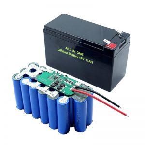 ແບດເຕີລີ່ໃນປະຈຸບັນມີພຽງ 18650 3S5P 12Volt Lithium Battery 11Ah