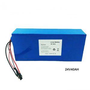 ລົດຖີບໄຟຟ້າລົດຖີບໄຟຟ້າ 24 Volt Lithium Battery 24V 40Ah NMC Li Ion Battery Pack Rechargeable battery ion lithium