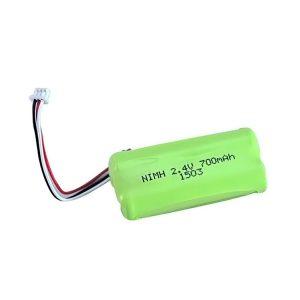 NiMH ແບດເຕີລີ່ Rechargeable AA700 2.4V
